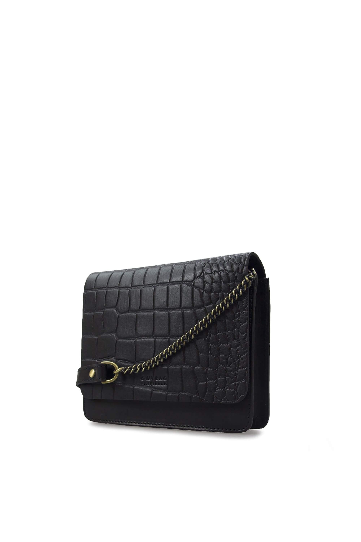 Audrey mini - classic black - croco from thegreenlabels