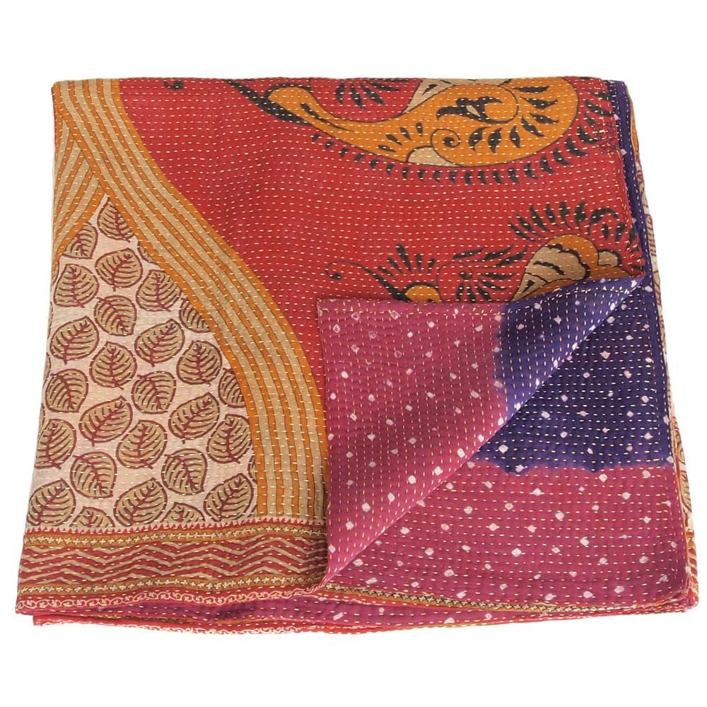 Cotton sari kantha blanket big | tyara from Tulsi Crafts