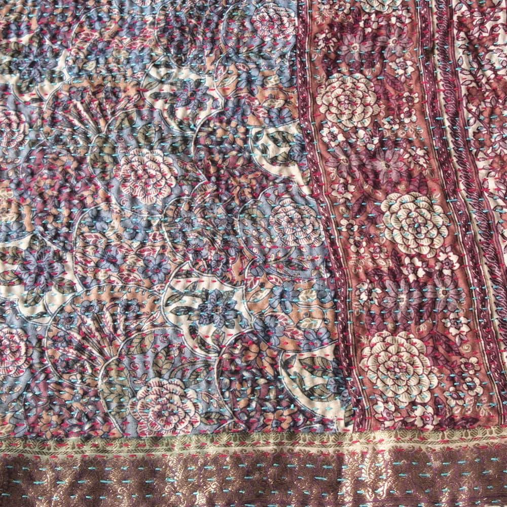 Silk sari kantha scarf big | lilapa from Tulsi Crafts