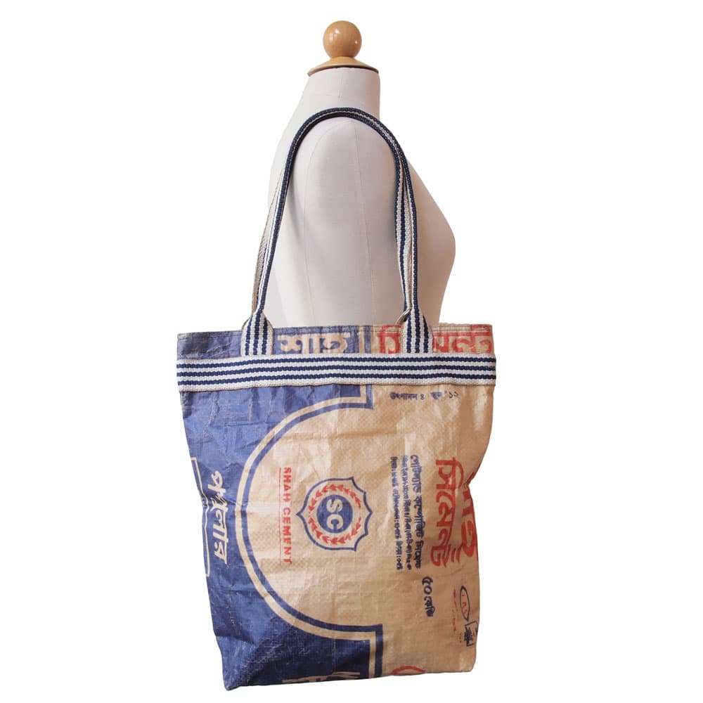 Bag made of recycled cement sacks from Tulsi Crafts