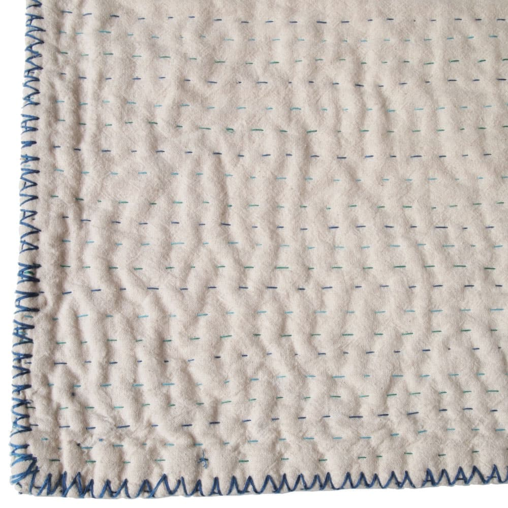 Natural kantha blanket cotton from Tulsi Crafts