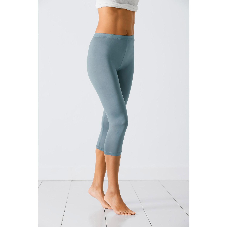¾-Seiden-Leggings aus Organic Silk, bordeaux from Waschbär