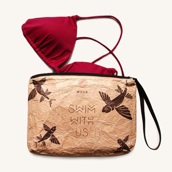 Flying Fish Bikini Pouch from Woodlike Ocean
